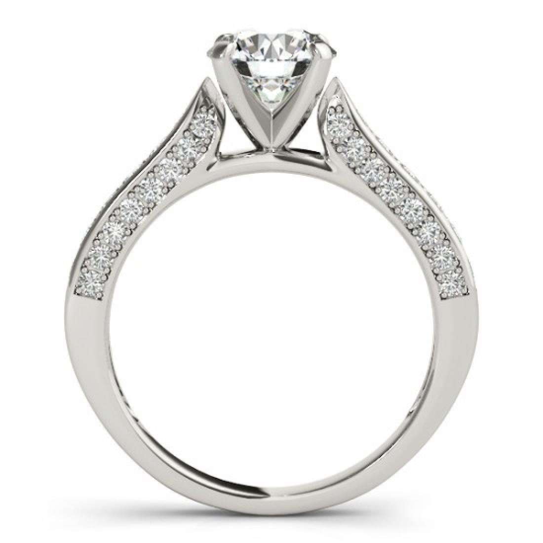 1.1 CTW Certified VS/SI Diamond Solitaire Ring 14K - 2