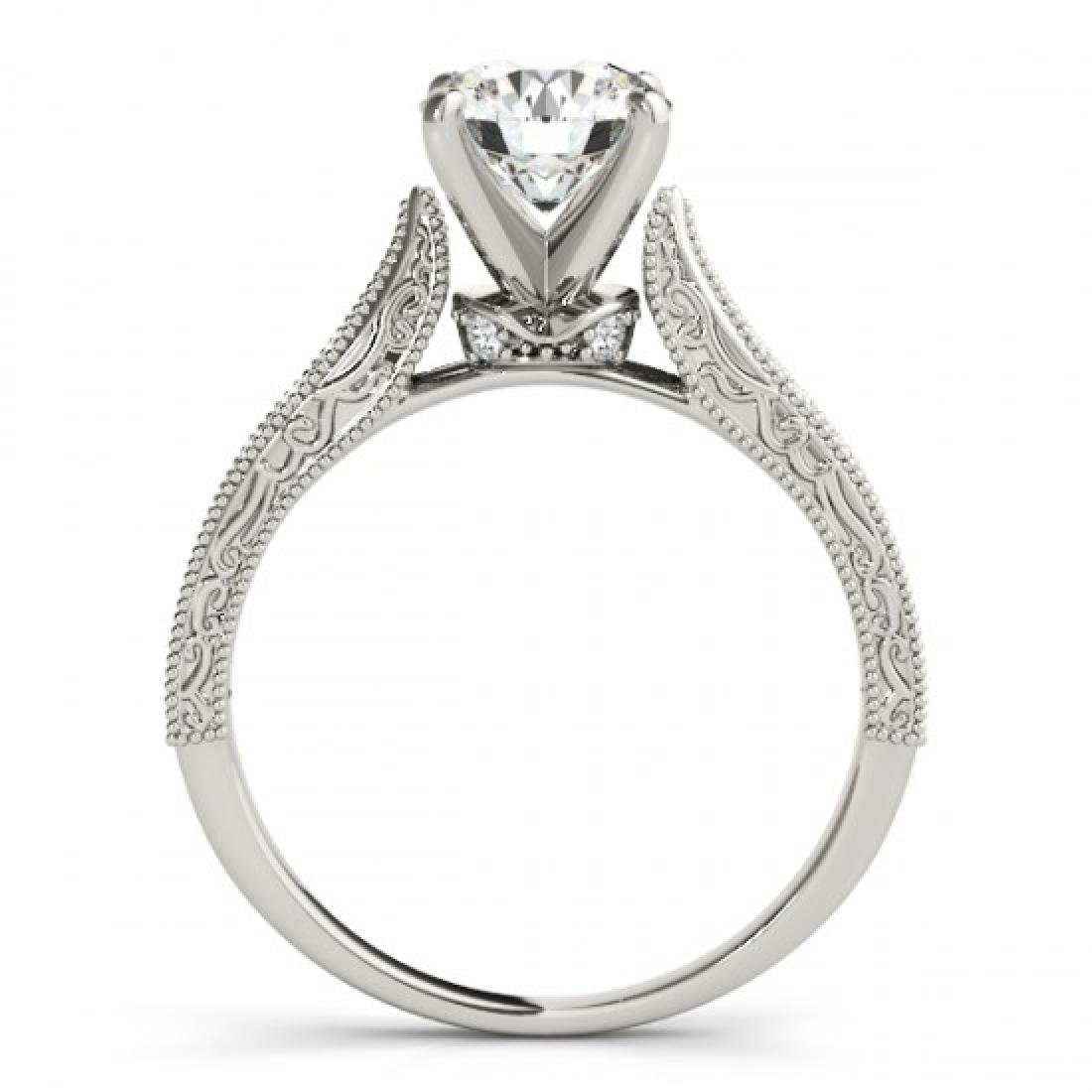 0.75 CTW Certified VS/SI Diamond Solitaire Antique Ring - 2
