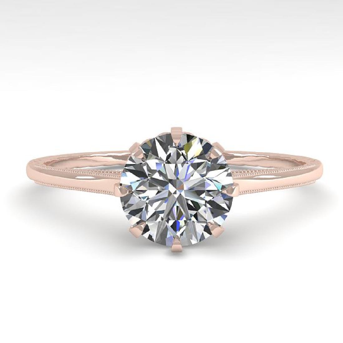 1.01 CTW Certified VS/SI Diamond Ring 14K Rose Gold