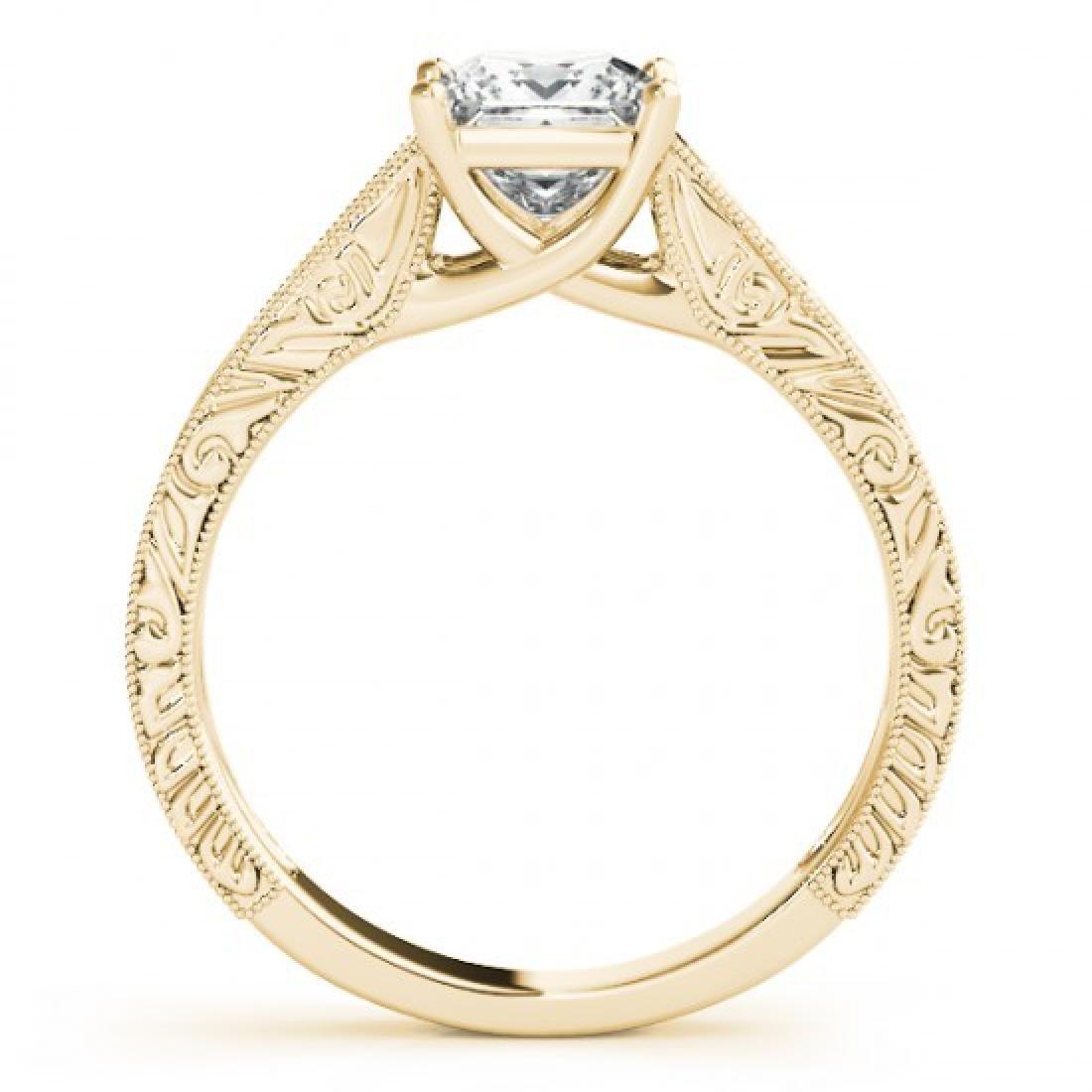 1 CTW Certified VS/SI Princess Diamond Ring 14K Yellow - 2