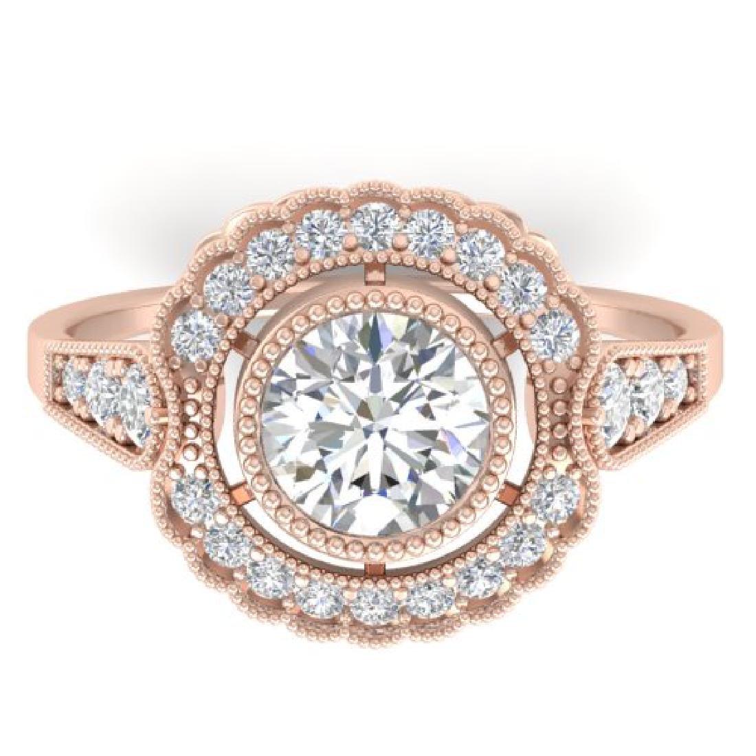 1.55 CTW Certified VS/SI Diamond Solitaire Art Deco