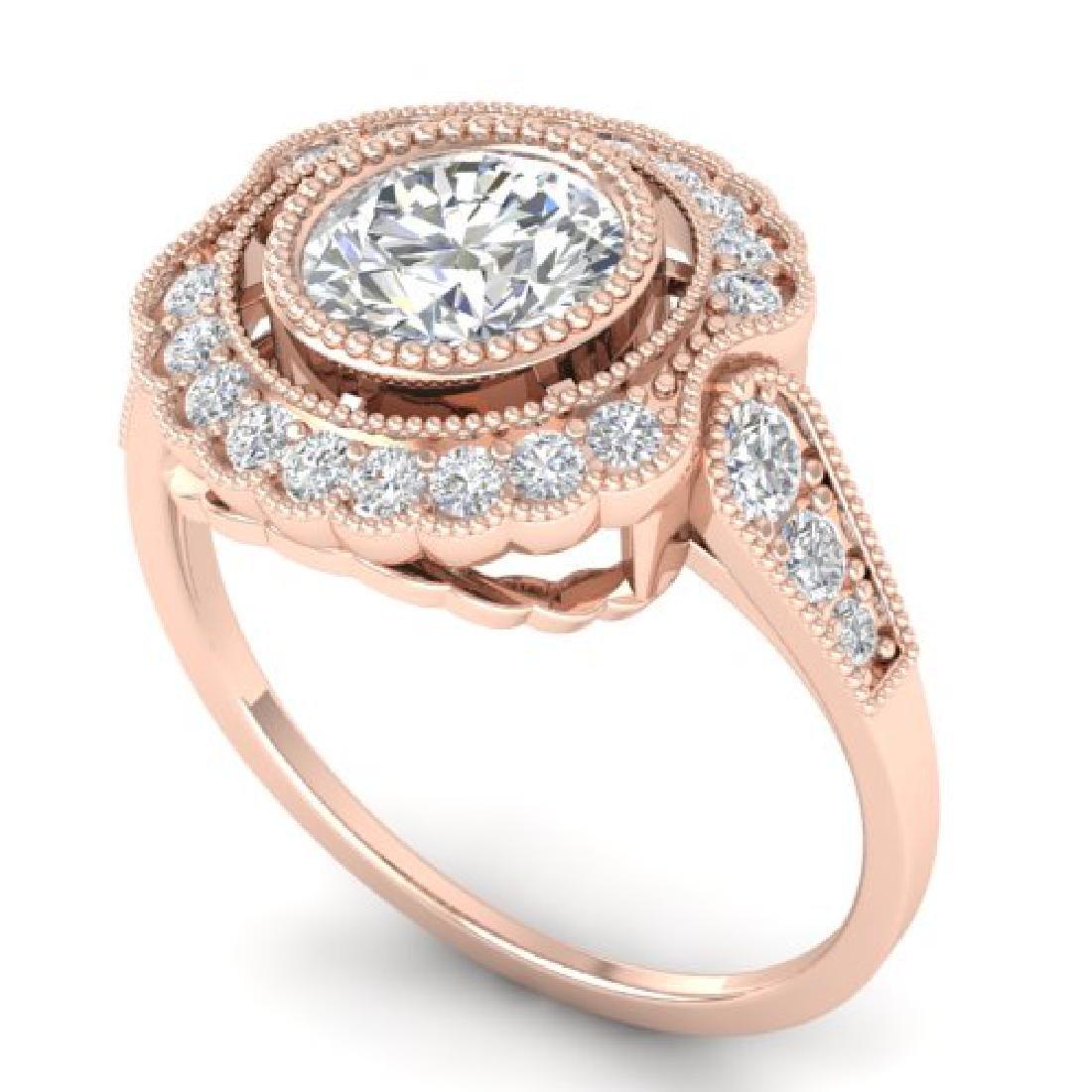 1.55 CTW Certified VS/SI Diamond Solitaire Art Deco - 2