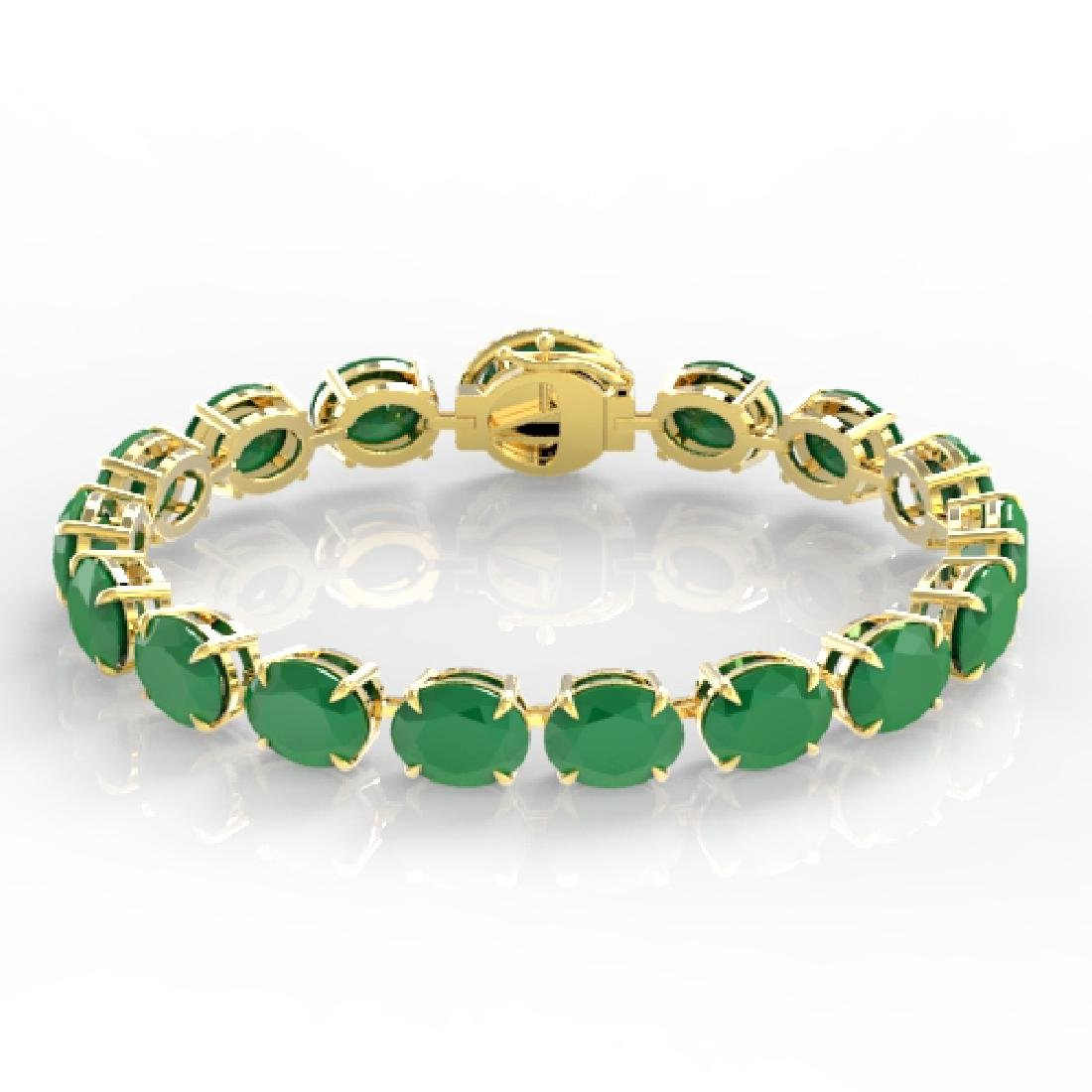 76 CTW Emerald & Micro Pave VS/SI Diamond Halo Bracelet - 2