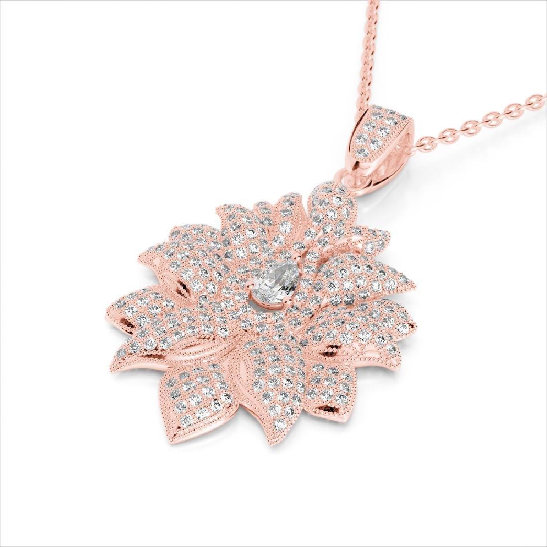 3 CTW Micro Pave VS/SI Diamond Designer Necklace 14K