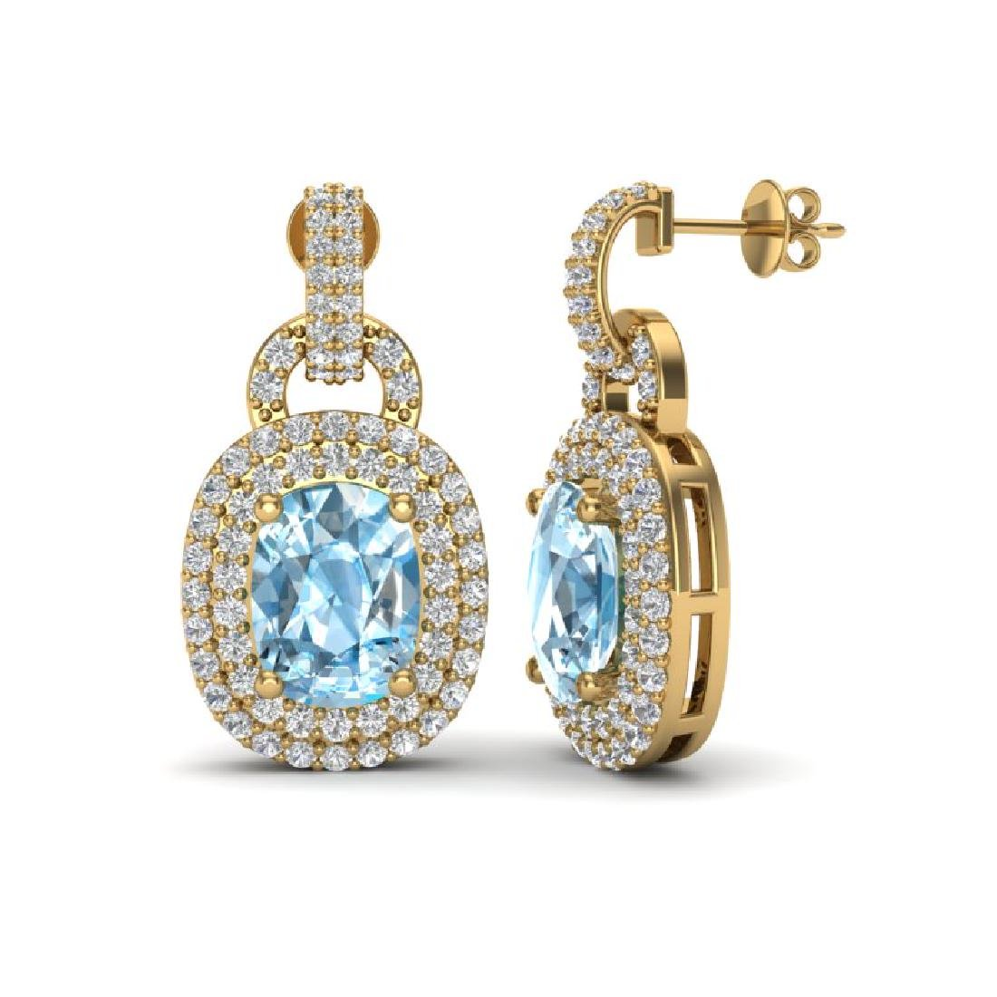 5 CTW Sky Blue Topaz And Micro VS/SI Diamond Pave - 2