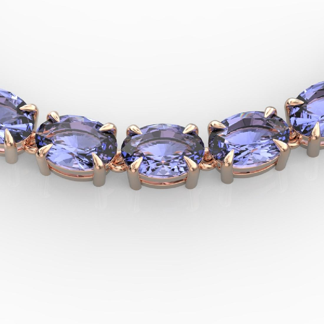56 CTW Tanzanite Eternity Designer Inspired Tennis