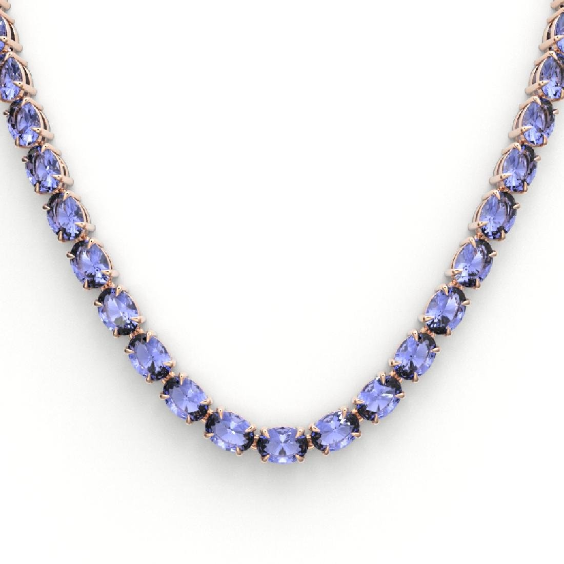 56 CTW Tanzanite Eternity Designer Inspired Tennis - 2