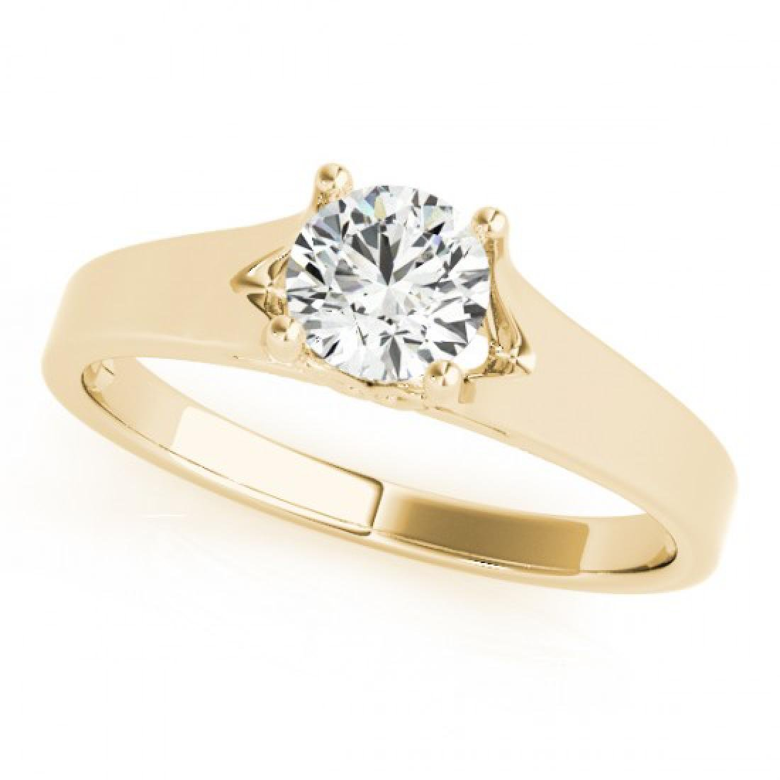 1 CTW Certified VS/SI Diamond Solitaire Ring 14K Yellow