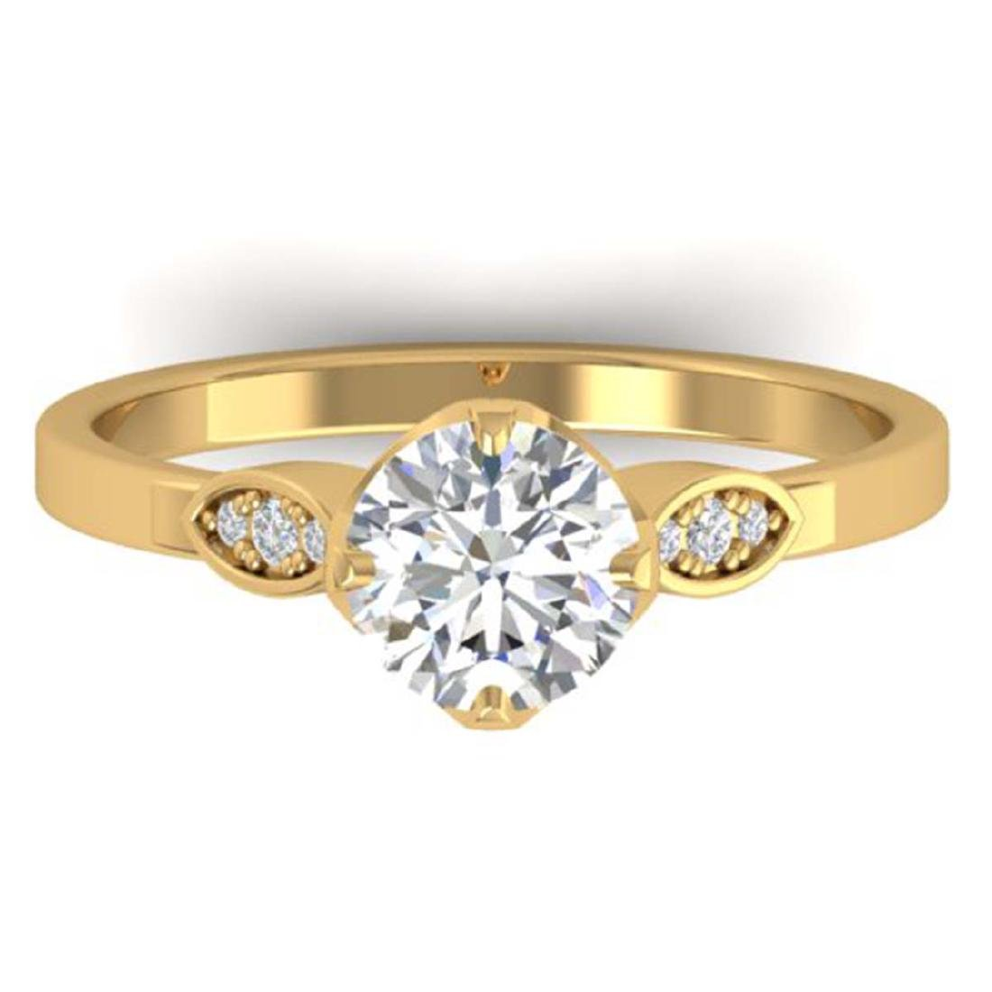 1.05 CTW Certified VS/SI Diamond Solitaire Art Deco