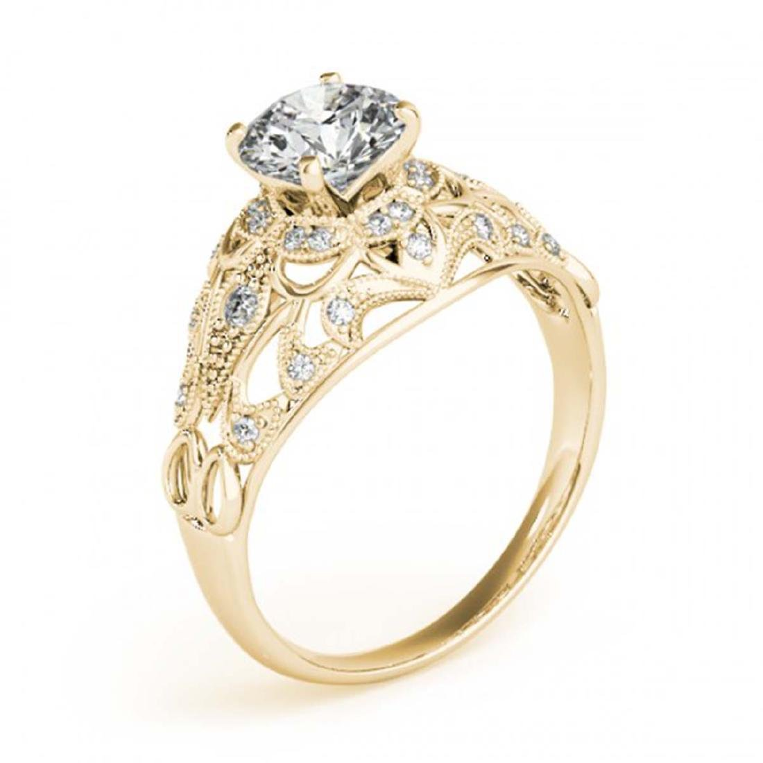 0.87 CTW Certified VS/SI Diamond Solitaire Antique Ring - 3