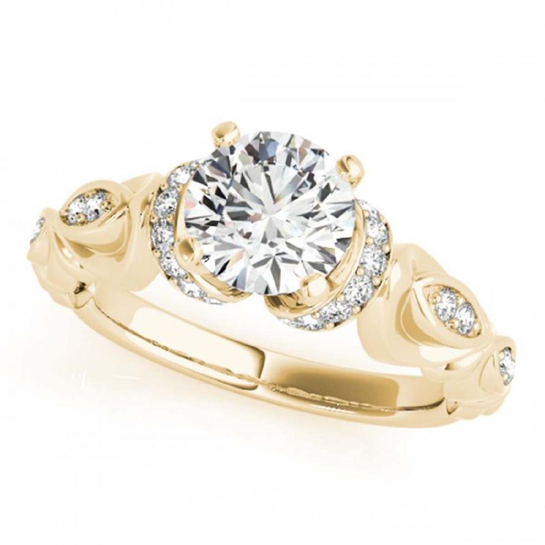 0.95 CTW Certified VS/SI Diamond Solitaire Antique Ring