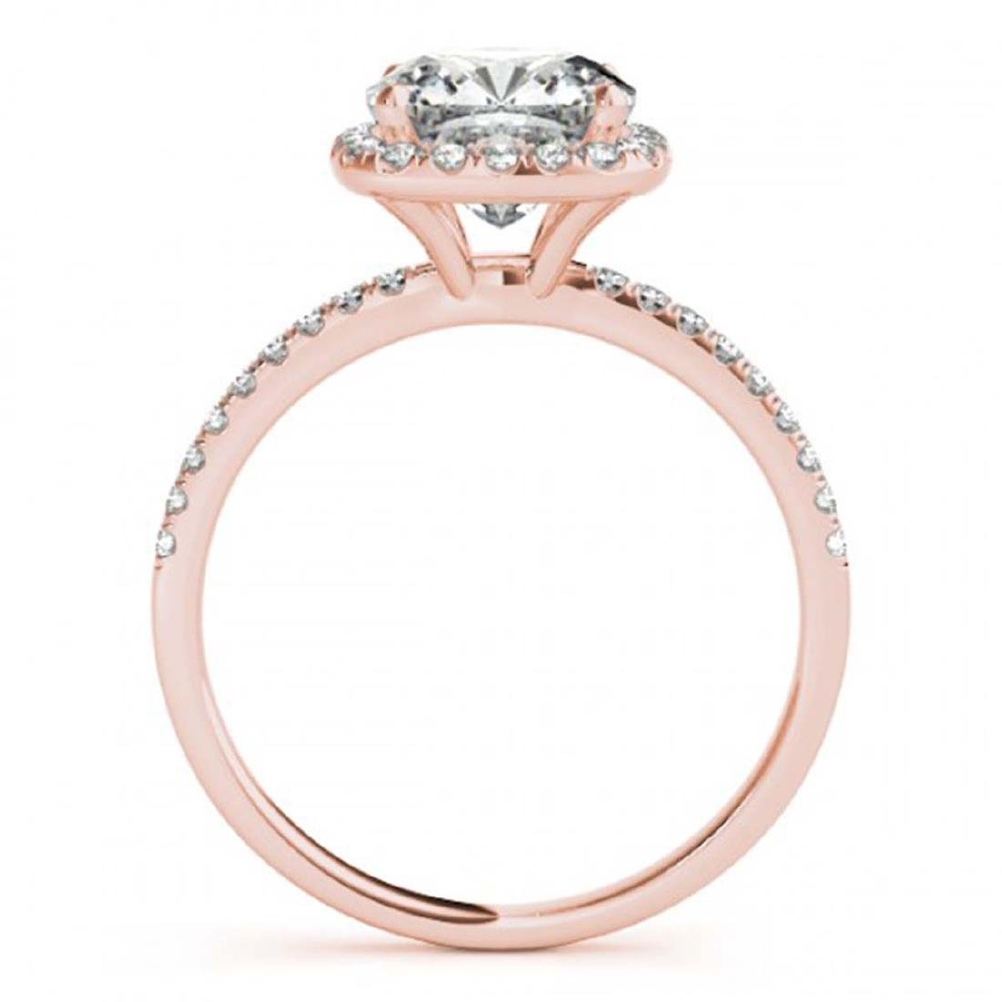 1.08 CTW Certified VS/SI Cushion Diamond Solitaire Halo - 2