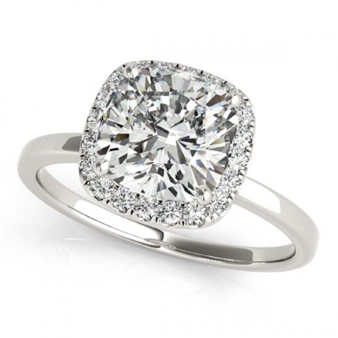 0.62 CTW Certified VS/SI Cushion Diamond Solitaire Halo