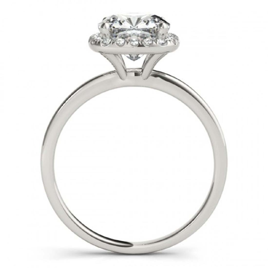 0.62 CTW Certified VS/SI Cushion Diamond Solitaire Halo - 2