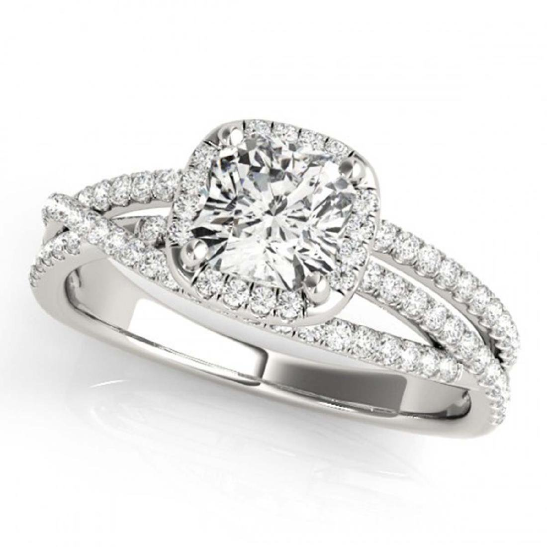 1 CTW Certified VS/SI Cushion Diamond Solitaire Halo - 2