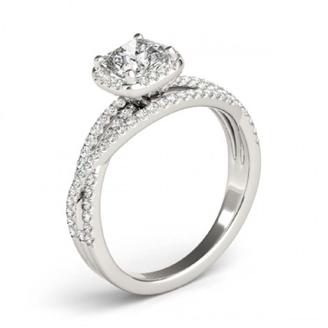 1 CTW Certified VS/SI Cushion Diamond Solitaire Halo - 3