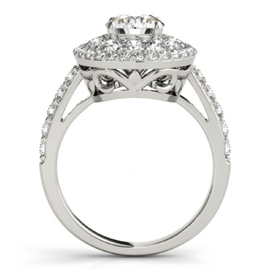 2.09 CTW Certified VS/SI Diamond Solitaire Halo Ring - 2
