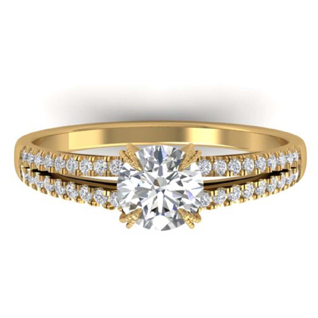 1.11 CTW Certified VS/SI Diamond Solitaire Art Deco