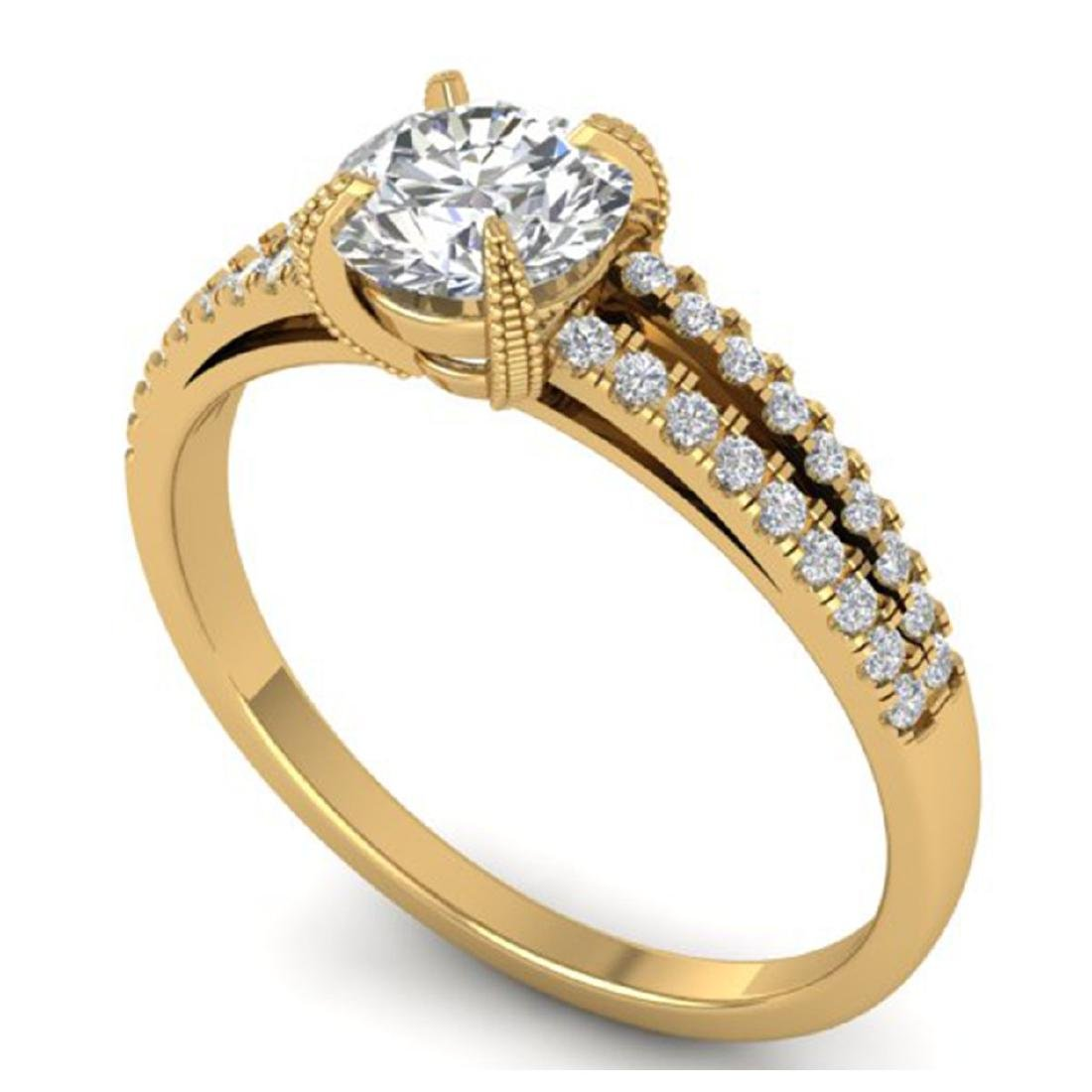 1.11 CTW Certified VS/SI Diamond Solitaire Art Deco - 2