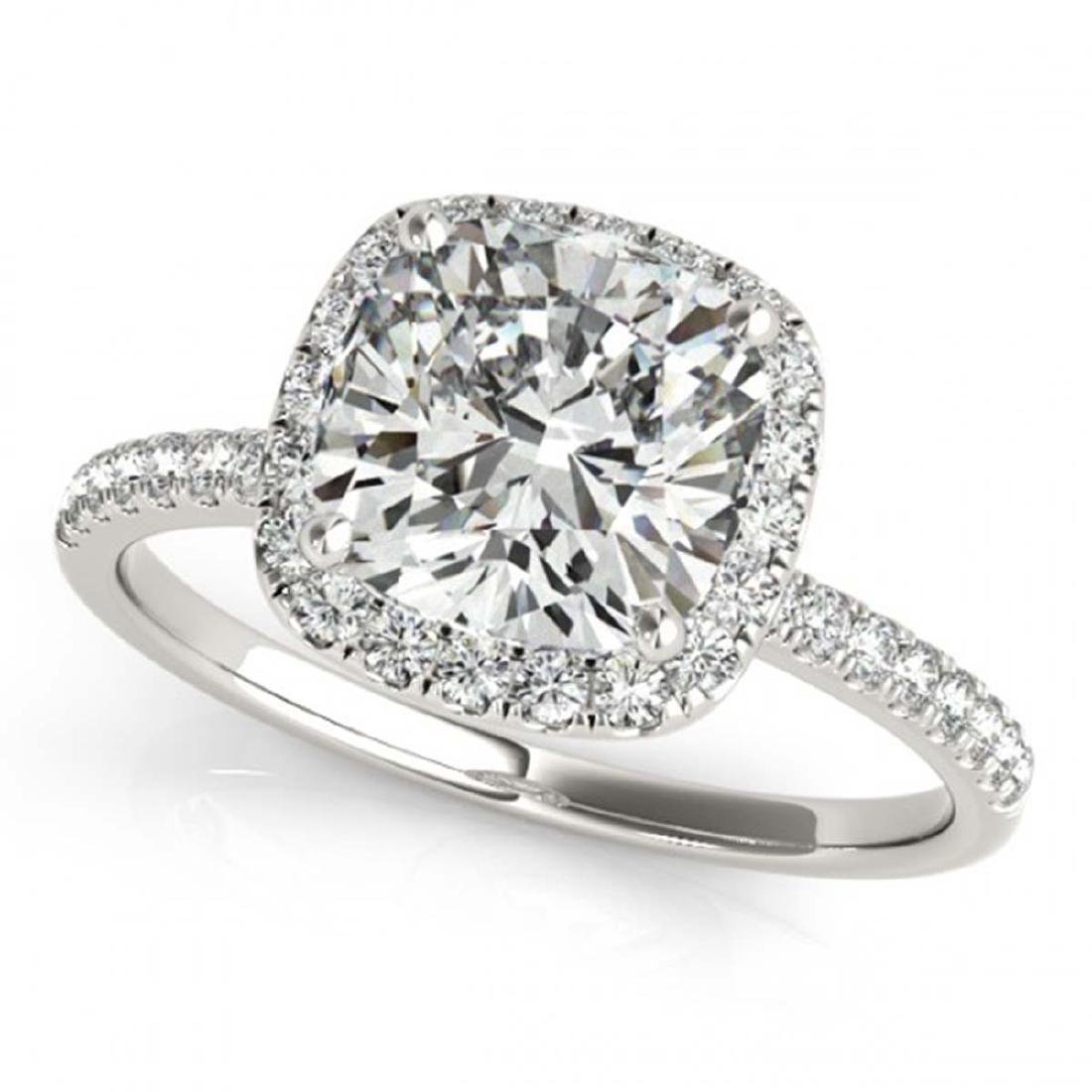 1.08 CTW Certified VS/SI Cushion Diamond Solitaire Halo