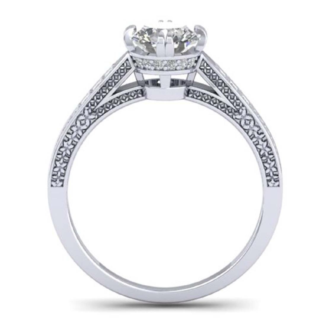 1.22 CTW Certified VS/SI Diamond Solitaire Art Deco - 3