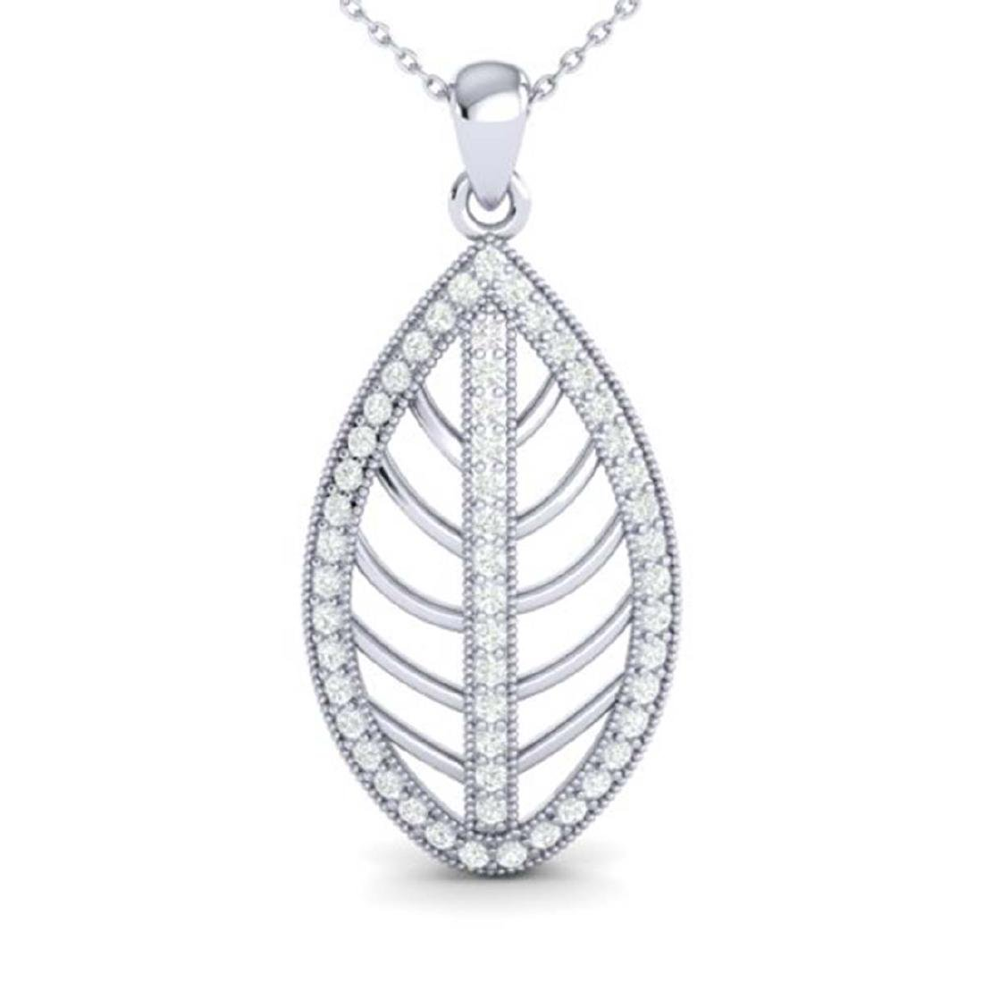 1 CTW Micro Pave VS/SI Diamond Designer Necklace 18K