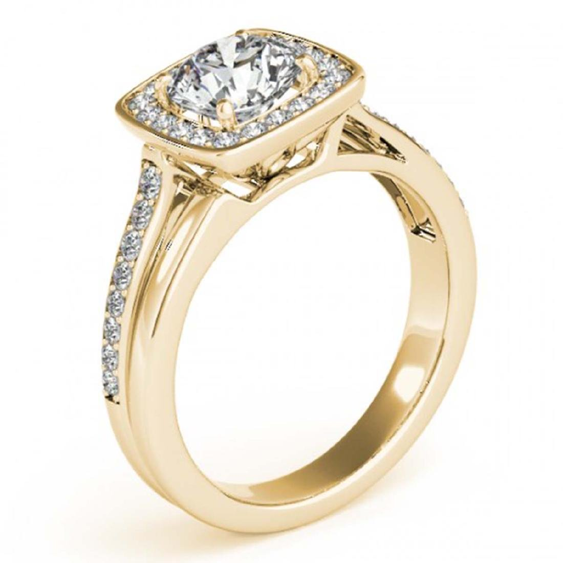 1.33 CTW Certified VS/SI Diamond Solitaire Halo Ring - 3