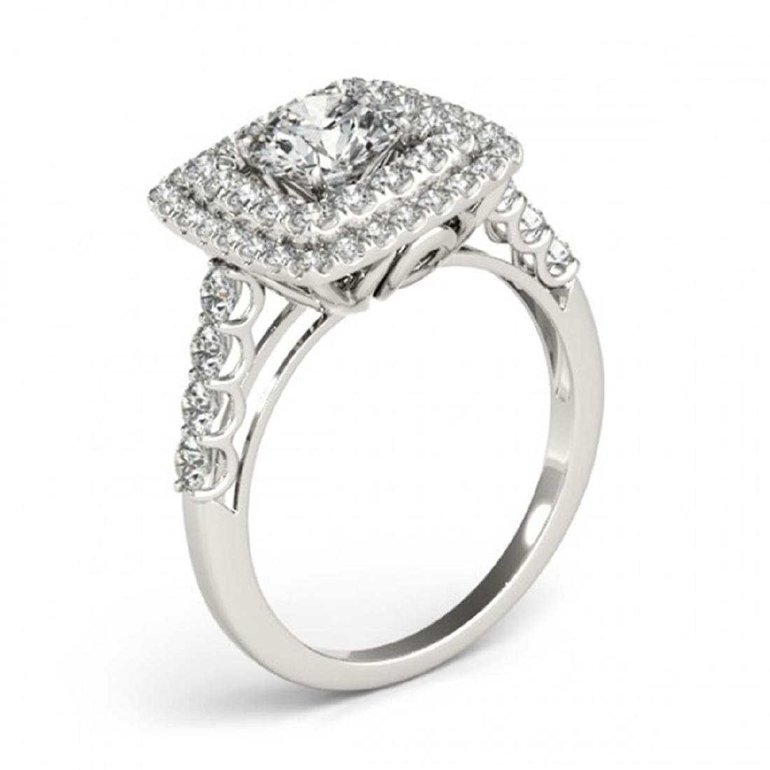 2.05 CTW Certified VS/SI Diamond Solitaire Halo Ring - 3