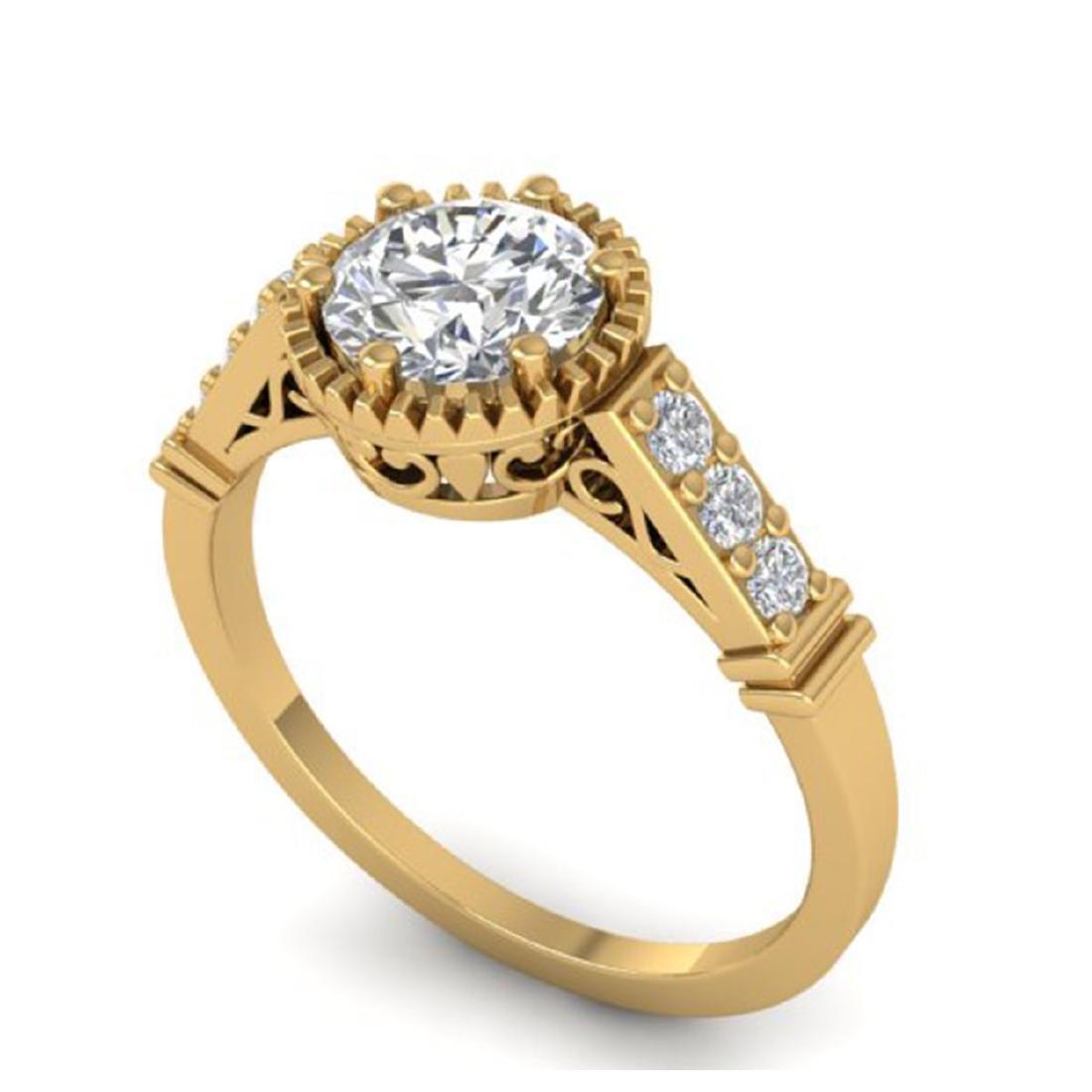 1.22 CTW Certified VS/SI Diamond Solitaire Art Deco - 2