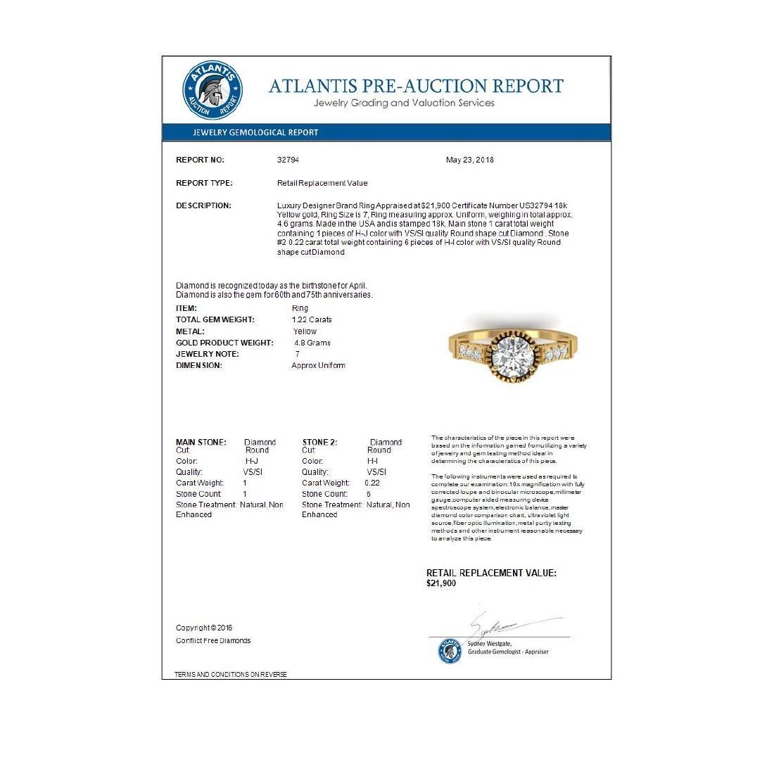 1.22 CTW Certified VS/SI Diamond Solitaire Art Deco - 4