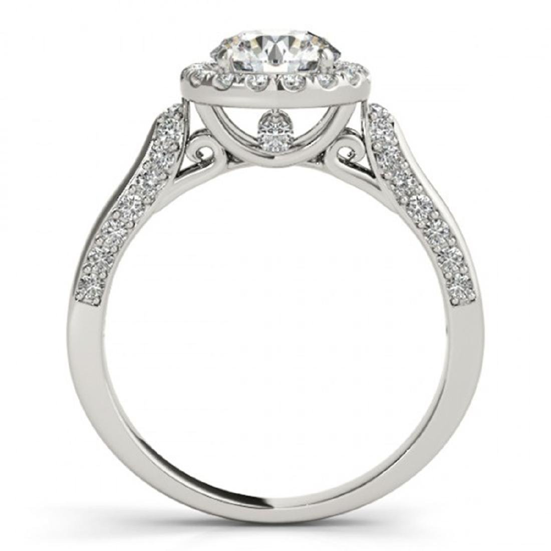 2.15 CTW Certified VS/SI Diamond Solitaire Halo Ring - 2