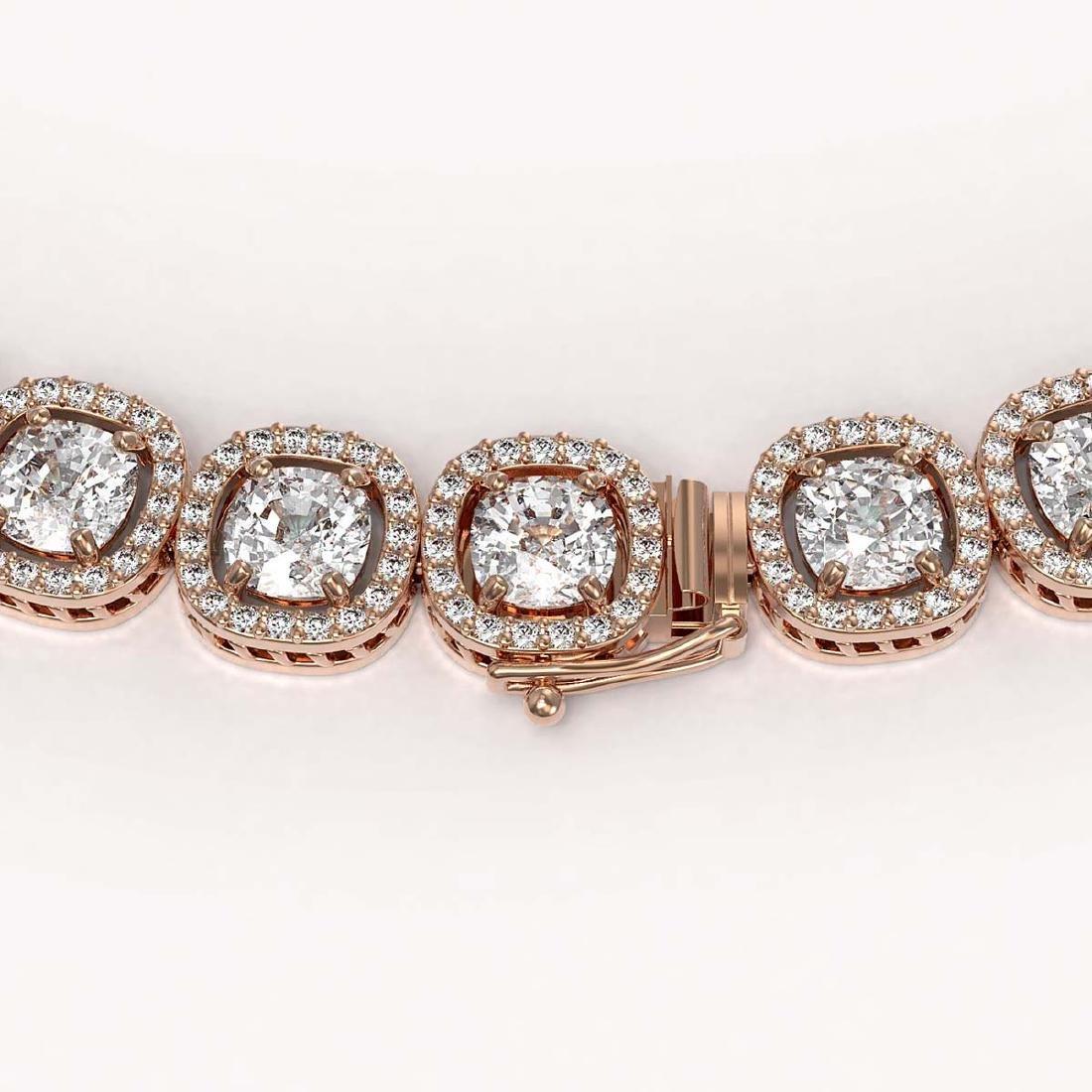 32.64 CTW Cushion Diamond Designer Necklace 18K Rose - 3