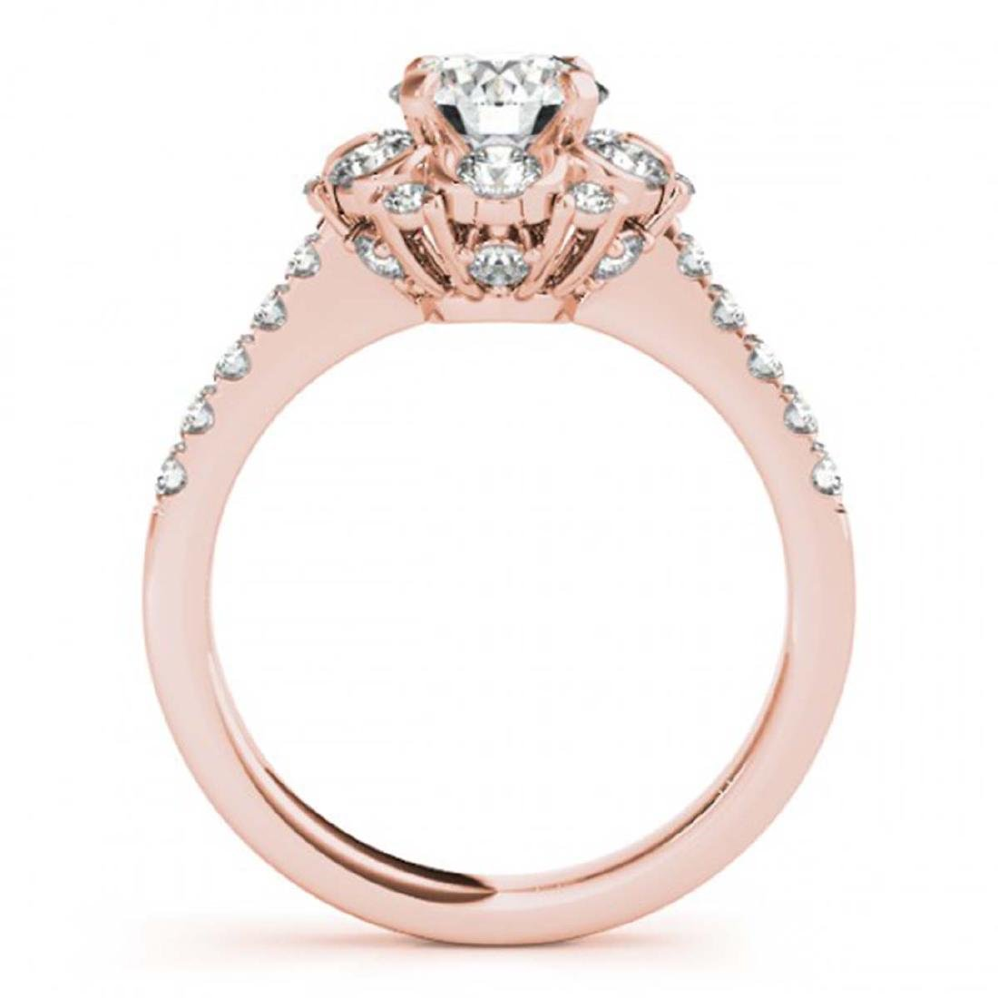 1.55 CTW Certified VS/SI Diamond Solitaire Halo Ring - 2