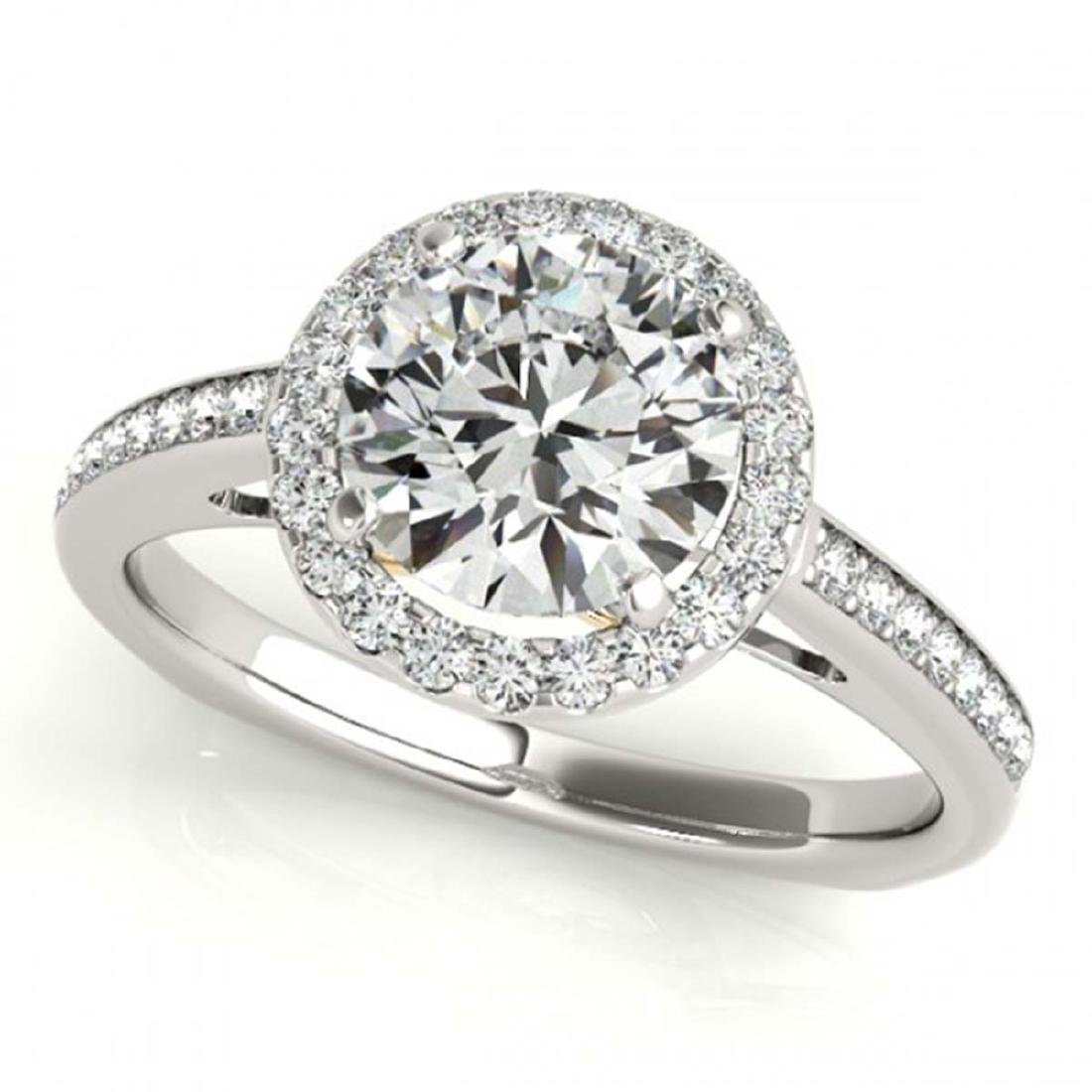1.05 CTW Certified VS/SI Diamond Solitaire Halo Ring - 2