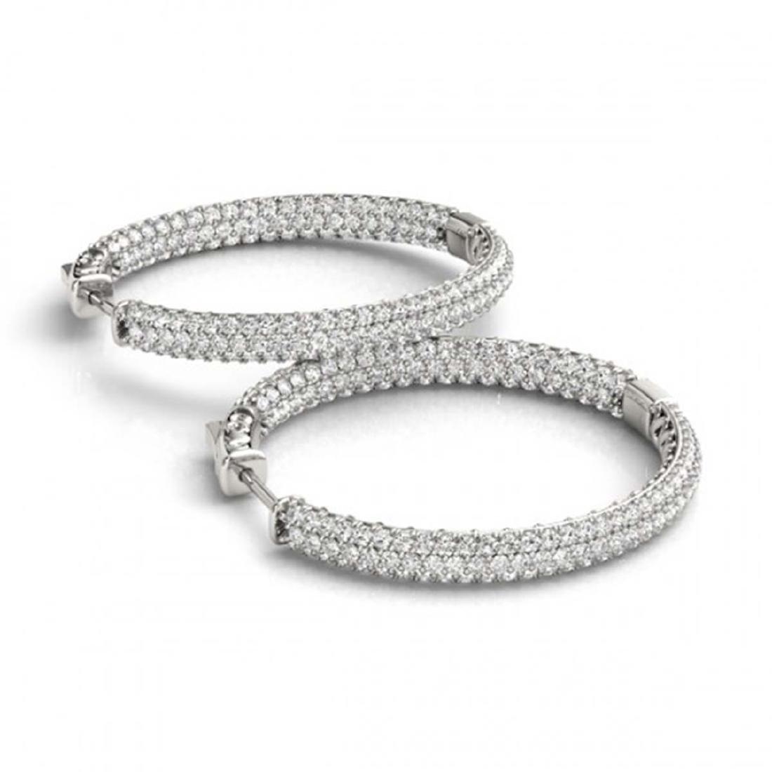 4.5 CTW Diamond VS/SI Certified 28 Mm Hoop Earrings 14K