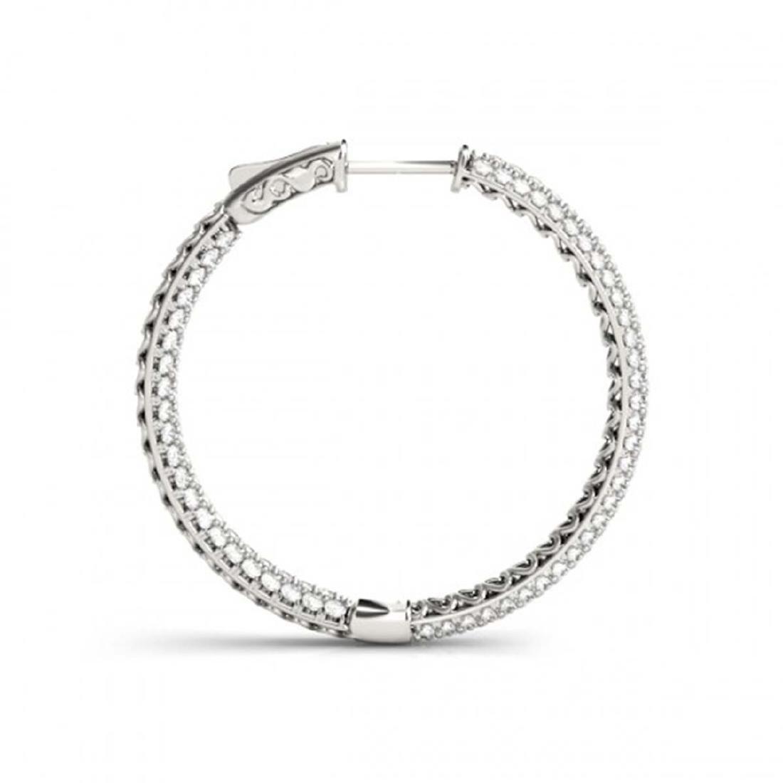 4.5 CTW Diamond VS/SI Certified 28 Mm Hoop Earrings 14K - 3