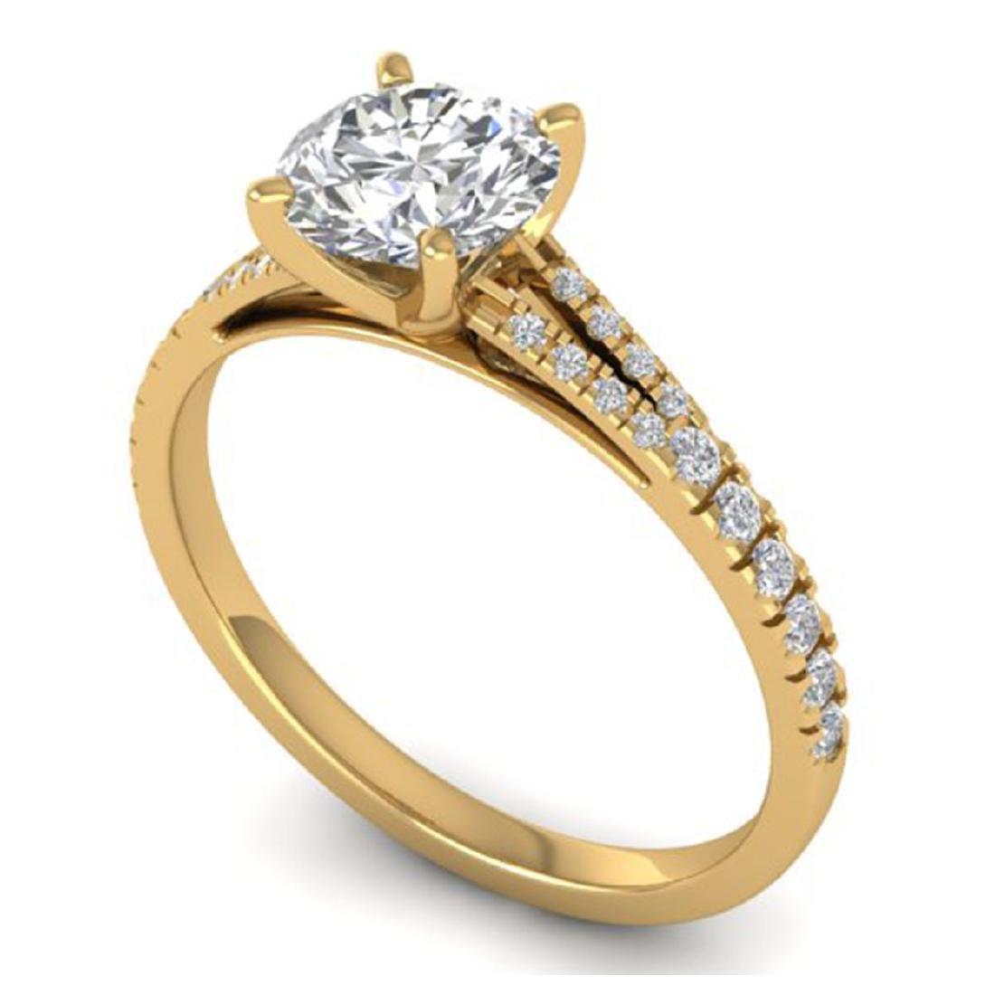 1.36 CTW Certified VS/SI Diamond Solitaire Art Deco - 2
