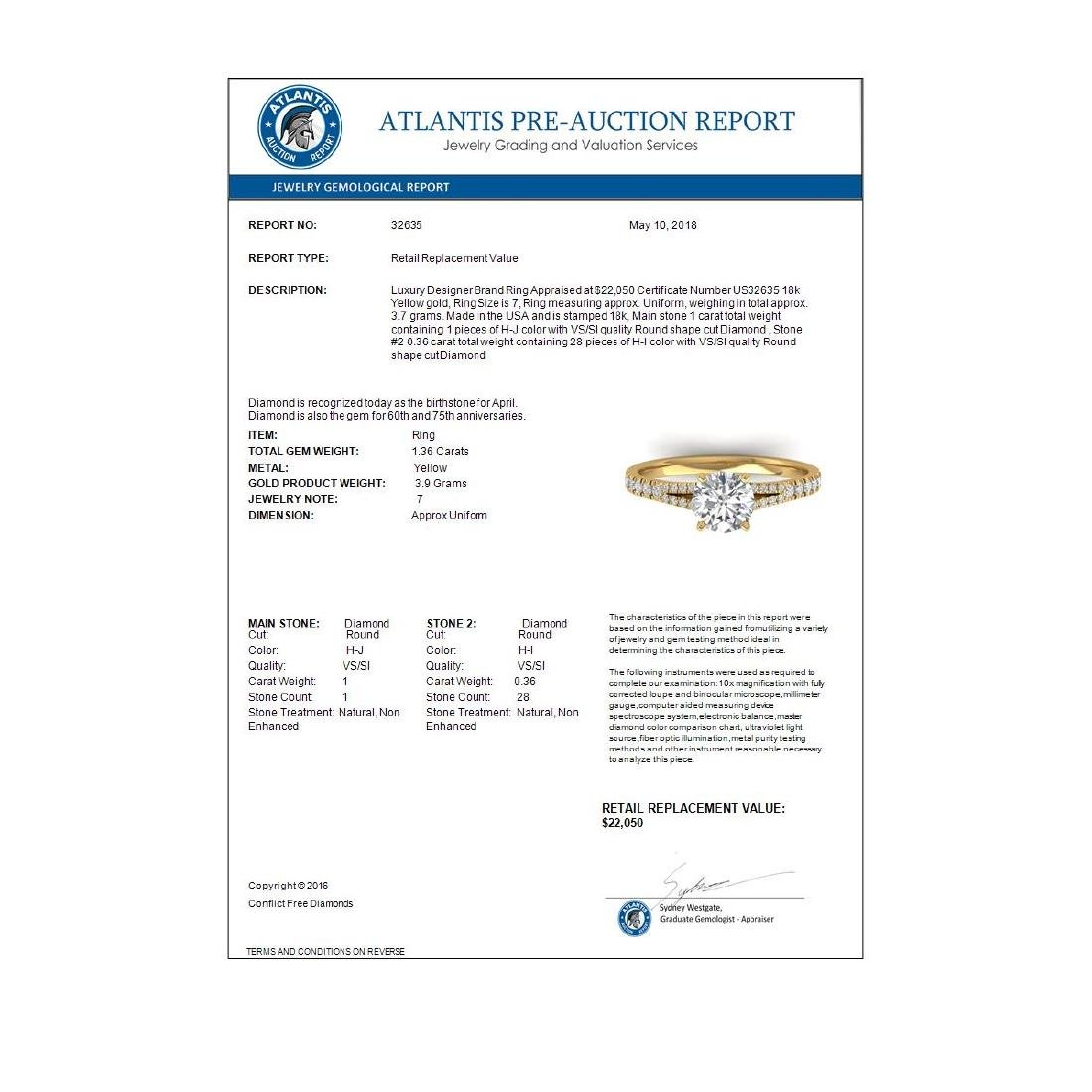 1.36 CTW Certified VS/SI Diamond Solitaire Art Deco - 4
