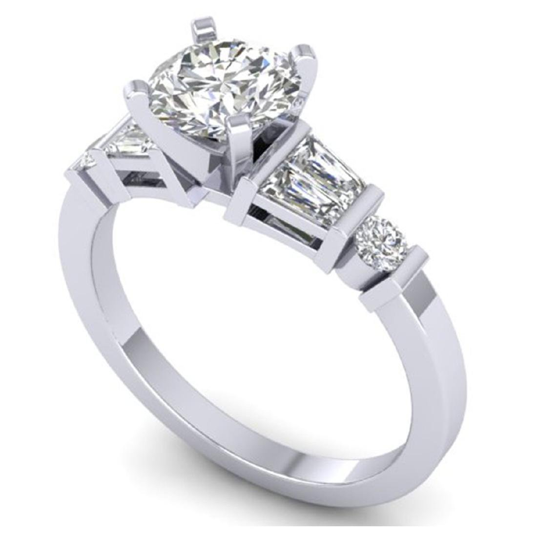 1.69 CTW Certified VS/SI Diamond Solitaire Ring 18K - 2