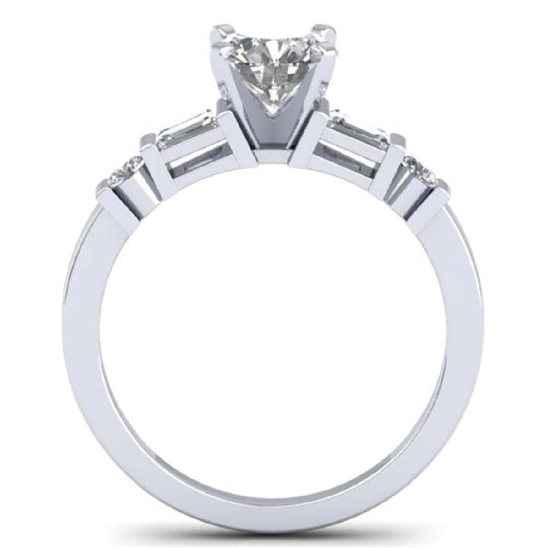 1.69 CTW Certified VS/SI Diamond Solitaire Ring 18K - 3