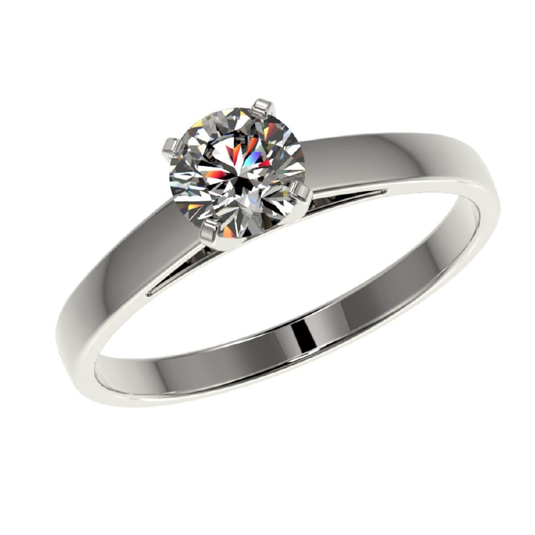0.76 CTW Certified H-SI/I Quality Diamond Solitaire - 2
