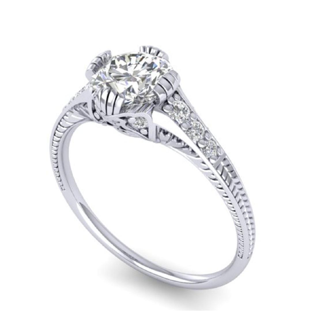 1.25 CTW Certified VS/SI Diamond Solitaire Art Deco - 2