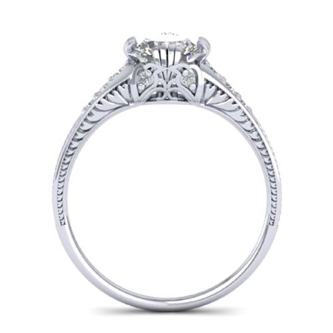 1.25 CTW Certified VS/SI Diamond Solitaire Art Deco - 3