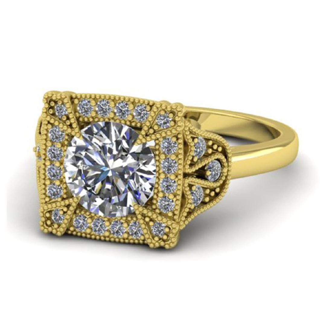 1.75 CTW Solitaire Certified VS/SI Diamond Ring 18K - 2