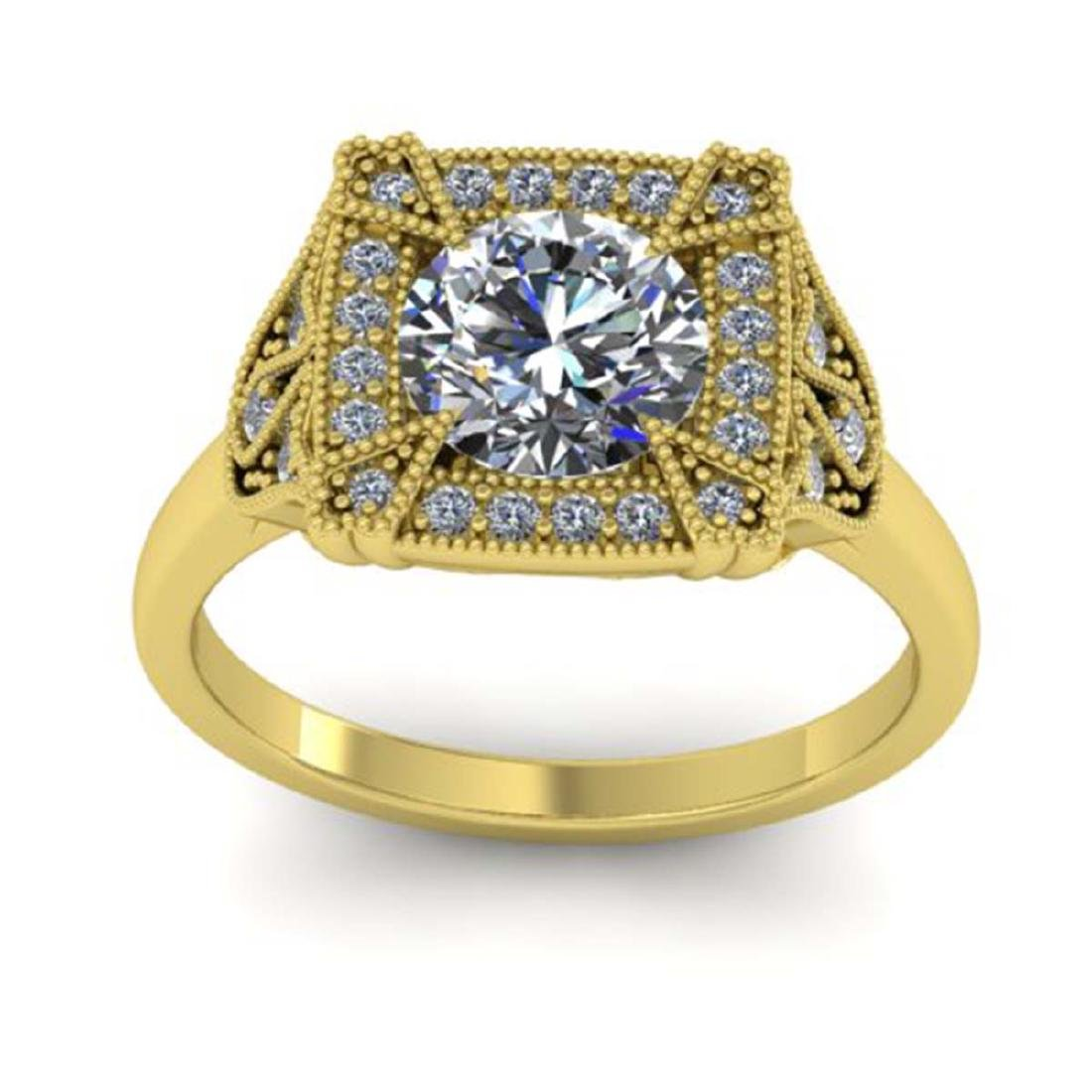 1.75 CTW Solitaire Certified VS/SI Diamond Ring 18K - 3