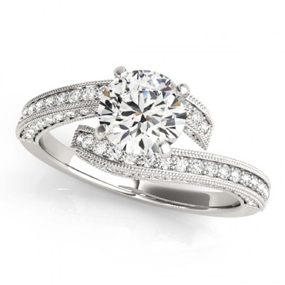 1.5 CTW Certified VS/SI Diamond Bypass Solitaire Ring - 2