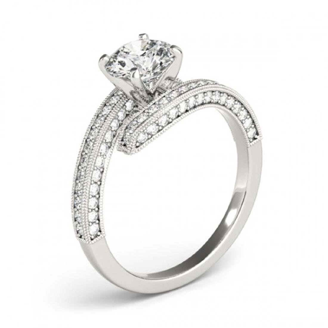 1.5 CTW Certified VS/SI Diamond Bypass Solitaire Ring - 3