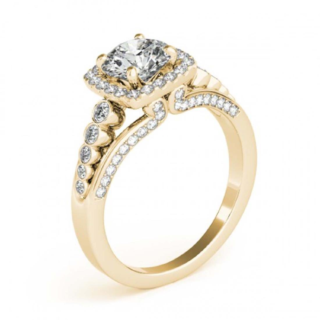 1.75 CTW Certified VS/SI Diamond Solitaire Halo Ring - 3