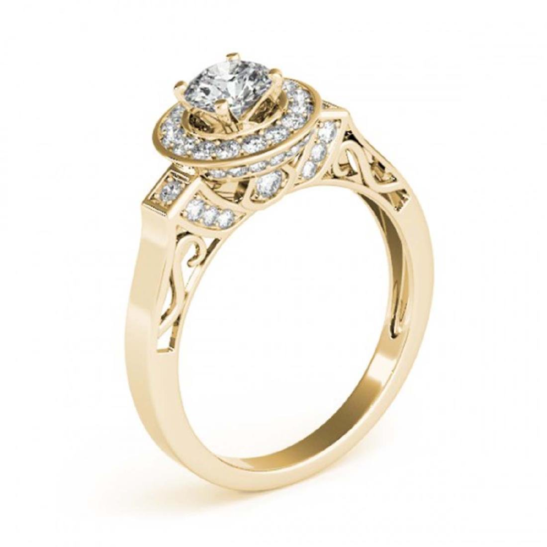 1.25 CTW Certified VS/SI Diamond Solitaire Halo Ring - 3