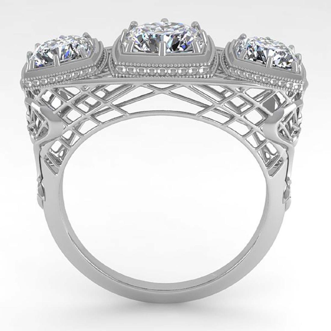2 CTW VS/SI Cushion Cut Diamond Ring Art Deco 14K White - 3